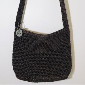 The Sak Crochet Crossbody Dark Brown Spring Trend